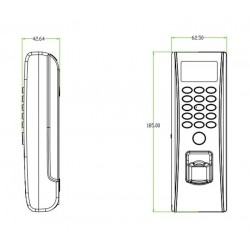 iClock 7 FP-RF Controllo Accessi e Rilevazione Presenze dimensioni ridotte