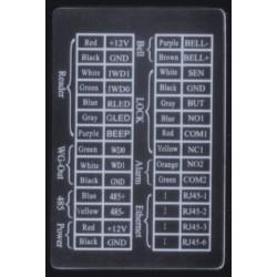 iClock 7 FP-RF Controllo Accessi e Rilevazione Presenze interfacce e uscite per relè allarme sirena sensore apriporta