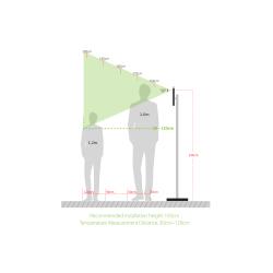 Termo-Scanner iClock Temp Mask Pro controllo temperatura corporea e mascherina